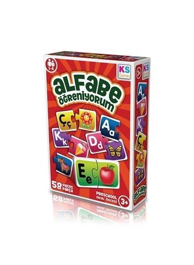 KS Puzzle KS Puzzle AG 257 Okul Öncesi Alfabe Öğreniyorum 58 ParÇa Renkli